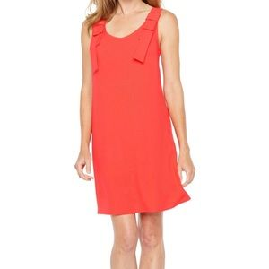 Coral Red Shift Dress